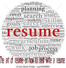 The art of resume or how to best write a resume