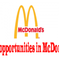 jobs opportunities in McDonalds