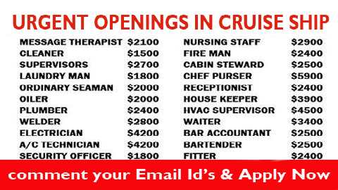 Best Ever Jobs Page Changing Your Future - Career at cruise ship