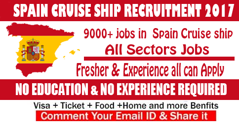 spain cruise ship jobs