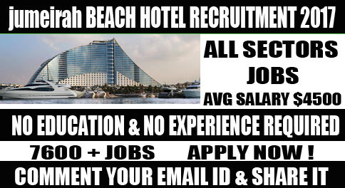 jumeirah beach hotel Jobs