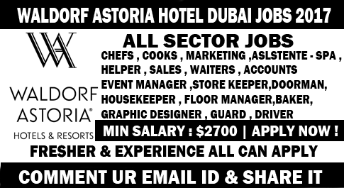 Waldorf Astoria Hotel jobs