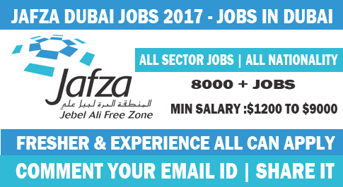 jafza jobs in dubai